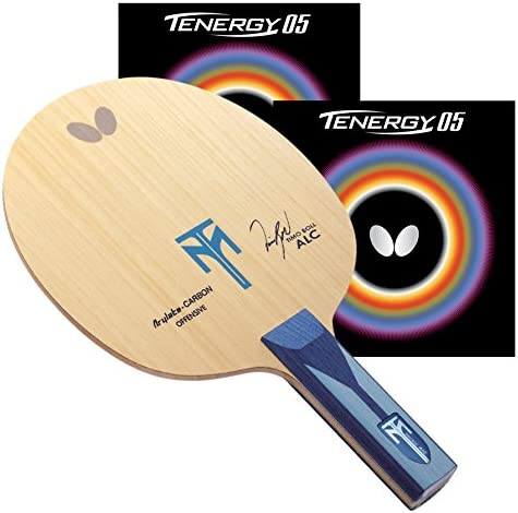 Butterfly Timo Boll ALC ST Blade with Tenergy 05 2.1 Proline Table Tennis Racket, 赤/黒