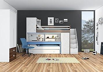 Fesselnd Newjoy Kinder Jugend Komplettzimmer Tower Mit Hochbett, Schreibtisch Und  Treppe