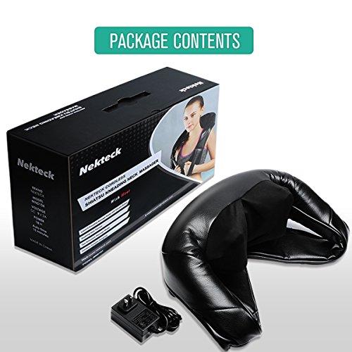 Nekteck Cordless Rechargeable Shiatsu Deep Kneading Massage Pillow With  Heat, Car/Office Chair Massager, Neck, Shoulder, Back, Waist Massager  Pillow [Speed ...