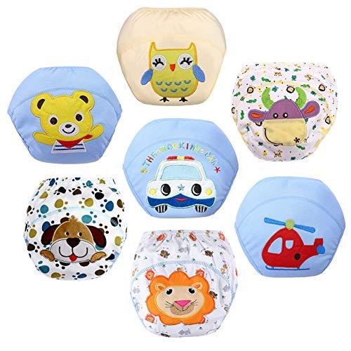 Z-Chen Baby Jongens Ondergoed Potty Training Broek Herbruikbaar Pack van 7