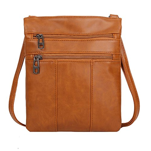 Work Multi PU Womens Color Bag Satchel Shoulder Purse Vintage Crossbody Messenger Brown Travel Small Pure Handbag function Briefcase Leather HtHxqfw