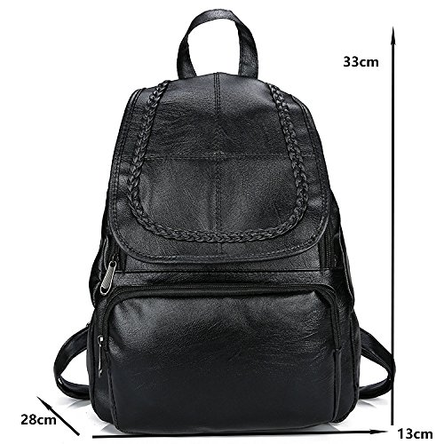 Trend 7 Pu Cover Capacity Fashion Leisure Large 2018 Bag Backpack Wild New School Female Bag gqnSd