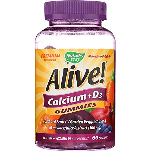 Natures Way, Calcium Alive Plus D 100 Mg, 60 Chewa
