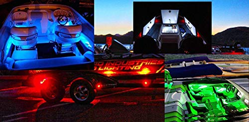 Boats Tournament Bass - Pro-Tournament Bass Boat Deck Lighting Front & Rear LED Kit 4 PK-STRATOS/RANGER (green, (4) Strips)
