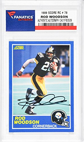 Rod Woodson Pittsburgh Steelers Autographed 1989 Score #78 Rookie Card - Fanatics Authentic Certified