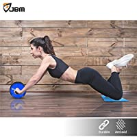 JBM Abdominal Wheel Roller(4 colors) Abwheel Abroller Ab Core Trainer Equipment Dual Wheels Rubber Handle Anti Slip for Exercise Workout Gym Fitness Crossfit - 440lbs Capacity