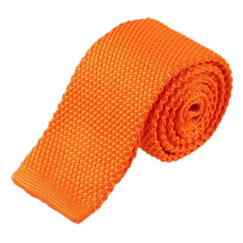 Orange Tie Knit Woven Unique Neck Fashion Necktie Longra® Men Knitted qnpaxPwzFP