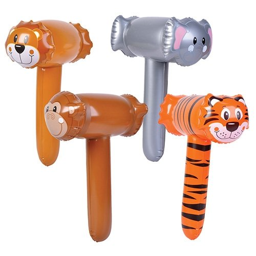 Zoo Animal Mallets - 12 per pack