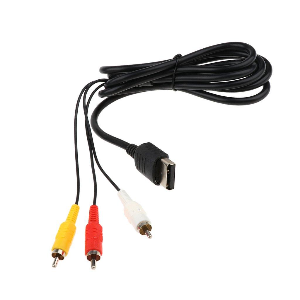perfk Adaptador Scart Cable de Conexi/ón RCA para Controlador Sega Dreamcast Cable AV Compuesto Buena Calidad