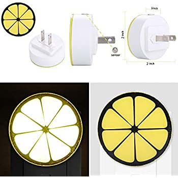 Rumas LED Night Light Plug in with Induction Sensor Control - Mini Beside Lamp for Kids Room Bedroom Stair - Long Lifespan Energy Saving Auto Light Night ...
