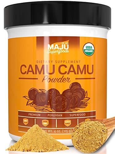 Organic Camu Camu Powder: Guaranteed Purest Source, 100% Raw, USDA Organic CamuCamu, Packaged in USA by Maju Superfoods