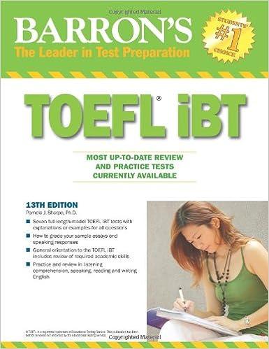 Barron Book For Toefl