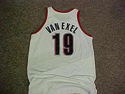 best cheap 0b29e a9278 Nick Van Exel Portland Trail Blazers Nike White Game Jersey ...