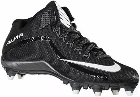 NIKE Alpha Pro 2 3/4 D Mens Football Cleat (13, Black/Metallic Dark Grey/White) 51B1TOPcCXL