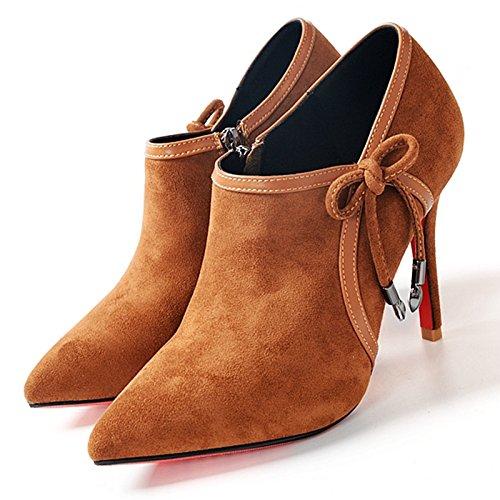 De De Quemado Nudo El Mujer KHSKX Otoño Profundamente Zapatos Tacon Tacon Y De Señaló Alto SolaTreinta El OchoAmarillo Versión Coreana Zapatos Y Zapatos Zapatos De De Trabajo Invierno Mariposa De Moda xw7zU