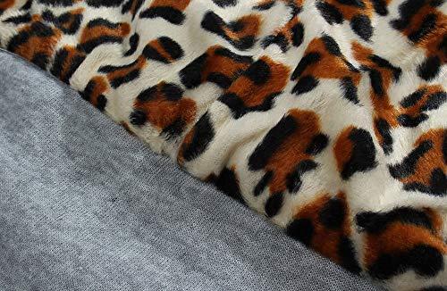 Taille Gris Veste Moonuy shirt Capuche Femme Doudoune Velours Sweat Zippé Foncé Pull Long Polaire Zipper Imprimé Courte Grande Doublure Léopard À Coat BwwAR