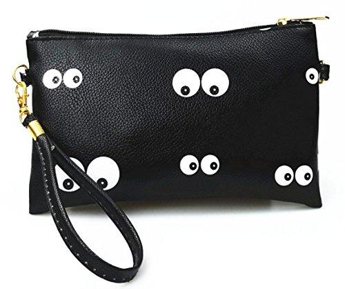 mini strap Coin with purse Black crossbody bag wallet shouldeber wXwHx