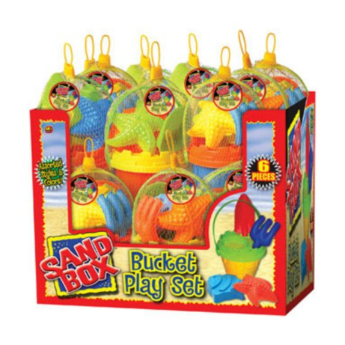 Jaru Sand Bucket Set Assorted Colors by Ja-Ru Inc.