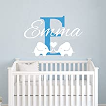 Personalized Name Wall Decals Elephant Custom Name Baby Boys Decal Children Nursery Girls Room Kids Wall Vinyl Decal Sticker Murals