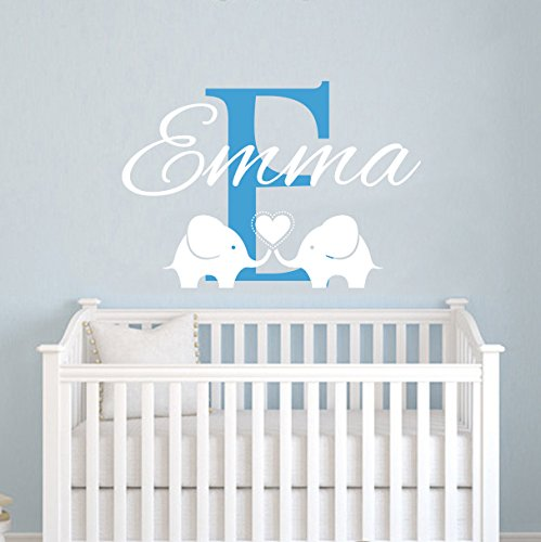 Personalized Name Wall Decals Elephant Custom Name Baby Boys Decal Children  Nursery Girls Room Kids Wall Vinyl Decal Sticker Murals: Amazon.ca: Sports  U0026 ... Part 53