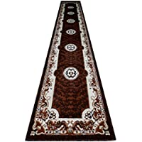 Traditional Long Rug Runner 32 In. X 15 Ft. 10 In. Brown Design # 101