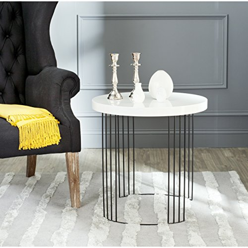 Safavieh Home Collection Kelly Mid-Century Modern White Side Table
