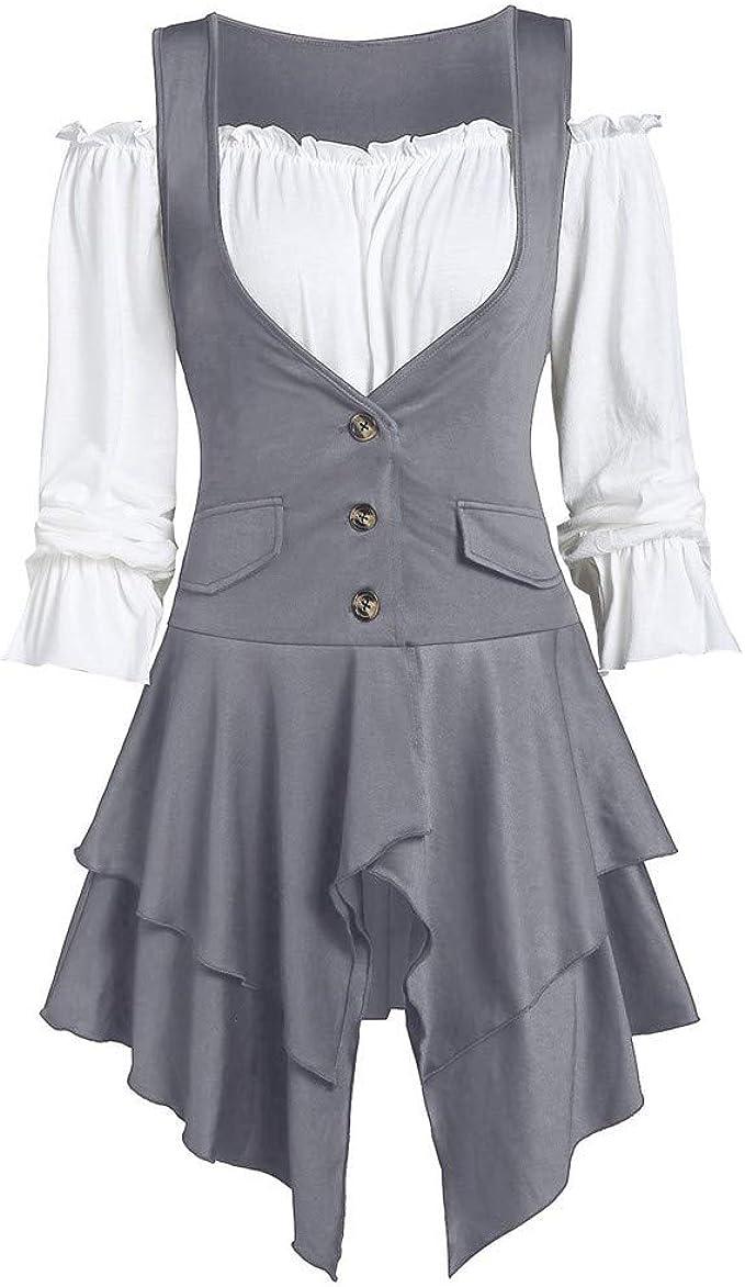 Battnot-Damen Zweiteilige Kleider+Oberteile Satz Schulterfrei