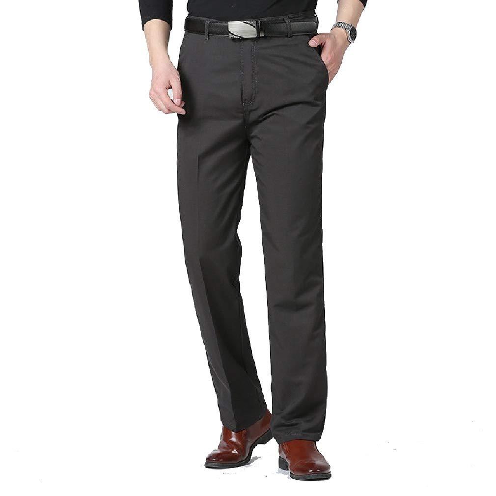 Zimaes-Men Relaxed-Fit Business Comfort High Waist Regular Fit Pant