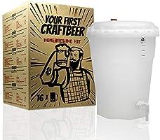 Kit de extracto para hacer cerveza Pale Ale | Tu primera cerveza casera | 8 litros | Incluye densímetro | Elabora cerveza artesanal: Amazon.es: Hogar
