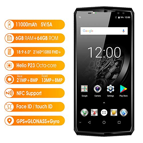 Household items Outdoor Portable Smart Phone, 4G Network Dual Card Dual Standby Mobile Phone, Large 6-inch 18:9 Full Screen, 21601080 Ultra High-Definition Resolution