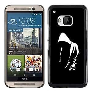 Planetar® ( Street Art Hoodie Thug Life Black Graffiti ) HTC One M9 Fundas Cover Cubre Hard Case Cover