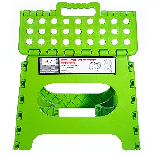 Acko Green 11 Inches Non Slip Folding Step Stool For Kids