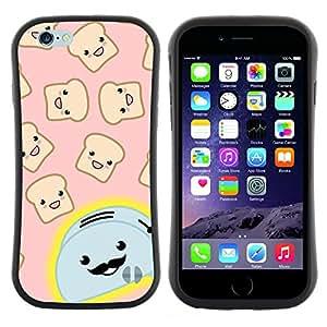 "Hypernova Slim Fit Dual Barniz Protector Caso Case Funda Para Apple (5.5 inches!!!) iPhone 6 Plus / 6S Plus ( 5.5 ) [Tostadora Cartoon manillar feliz Brindis""]"