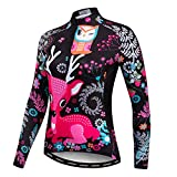 womens beer cycling jersey - Weimomonkey Women's Long Sleeve Bike Bicycle Riding Cycling Jersey Outdoor Jacket Breathable Beer Black XXL