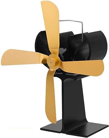ANKIKI 4 Cuchillas Ventilador De Estufa Portátil Wood Stove Fan ...