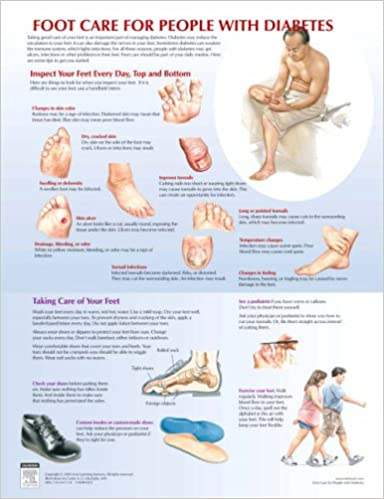 Foot Care For Diabetes Chart Netter Charts 1st Edition