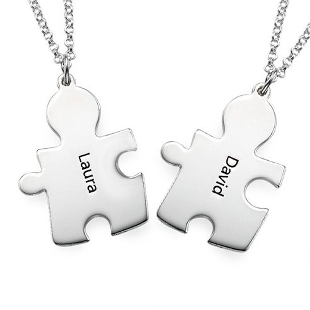 half for lovers necklaces products product image white heart stainless necklace puzzle super black steel