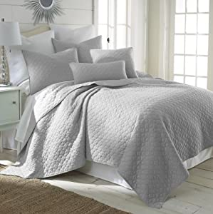 Bordeaux light grey king quilt set home kitchen for Quilted kitchen set