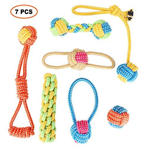 Dog Rope Toys by Winner-ZP, 7 Pack Puppy Chew Toys, Dog Cotton Rope Knot Toys for Small Medium Dogs, Puppy Chew Teething…