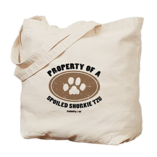 Cafepress – Shorkie Tzu Dog – Borsa di tela naturale, tessuto in iuta
