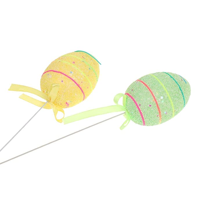 Amazon.com: 6 púas de espuma para huevos de Pascua en palos ...