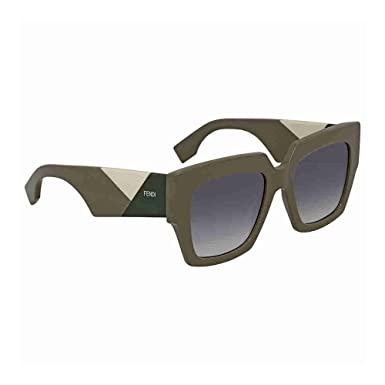 d6c0473aa0c3 Image Unavailable. Image not available for. Color  Fendi Grey Gradient  Square Ladies Sunglasses FF 0263 S ...
