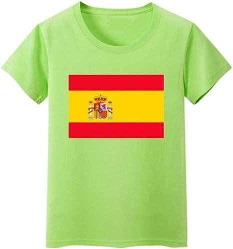 Daqin Bandera Española Hombres Y Mujeres De Manga Corta Clase De Desgaste De Los Niños Escuela Primaria Rendimiento del Estudiante Camiseta Camiseta Ropa Verano: Amazon.es: Deportes y aire libre