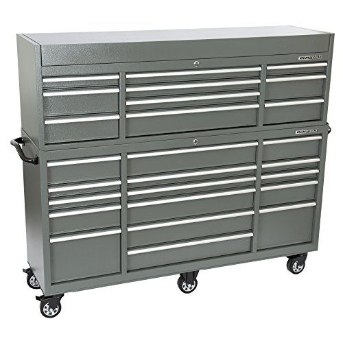 Oemtools  Drawer Chest And Cabinet Combo In Gun Metal Gray