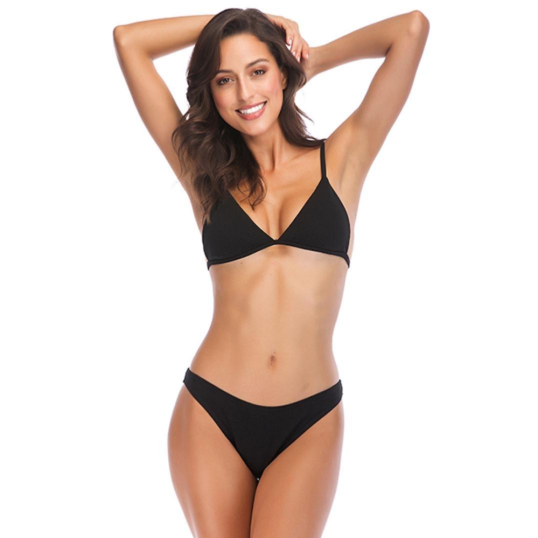 Women Sexy Bra Bikini Briefs for Teens Solid Color Bathing Push-up Padded  Swimsuit Brazilian Beachwear: Amazon.co.uk: Clothing