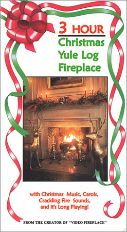Amazon.com: 3 Hour Christmas Yule Log Fireplace Video [VHS]: Steve ...