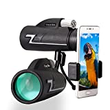 Monocular Telescope,16x50 Low Light Night Vision Prism Scope, BAK4 FMC Prism with Smartphone Adapter and Tripod for Bird Watching,Hunting,Camping,Outdoor Hiking,Concert