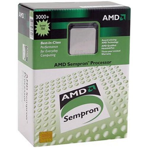(AMD Sempron 3400+ Socket 754 CPU Processor SDA3400AIO3BX 2.0GHz)