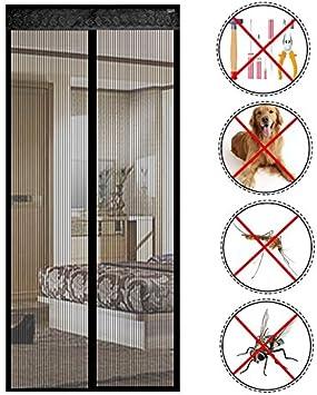 reinefleur magn/ética cortina de puerta anti insectos moscas mosquitos 90/cmx210/cm para puerta de entrada interior patio corrediza blanco caf/é