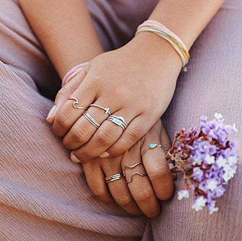 Pura Vida Rose Gold Coated Wave Ring - Gold Plated .925 Sterling Silver - Size 5 by Pura Vida (Image #5)